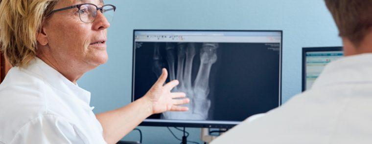Reumatoloog röntgenfoto van de voet
