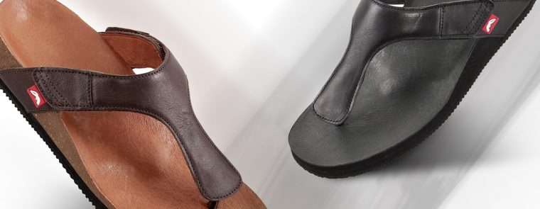 Fits teenslippers zwart en bruin