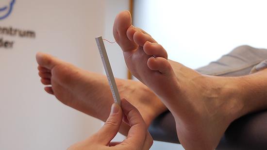Diabetes Voeten Gevoelsonderzoek met Monofilament